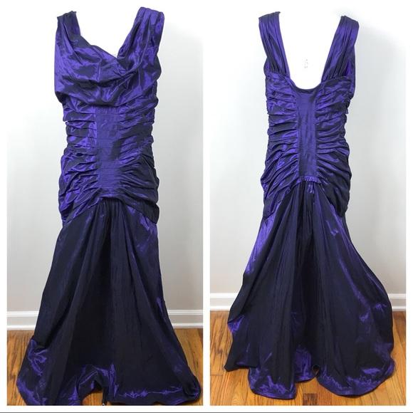 Tadashi Shoji Dresses   Tadashi Purple Taffeta Evening Gown   Poshmark